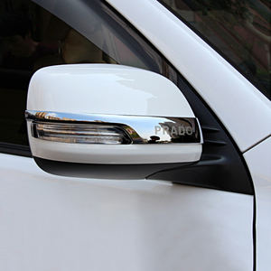 Image 5 - Chrome Car Rearview Mirrors Cover Trim Strip Sticker For Toyota Land Cruiser Prado 150 2010 2016 2017 2018 2019 2020 Accessories