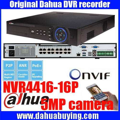 Original ENGLISH firmware DAHUA NVR with 16PoE ports 4HDD support up to 5MP Recording Resolution onvif NVR4416-16P NVR4432-16P 16ch poe nvr 1080p 1 5u onvif poe network 16poe port recording hdmi vga p2p pc
