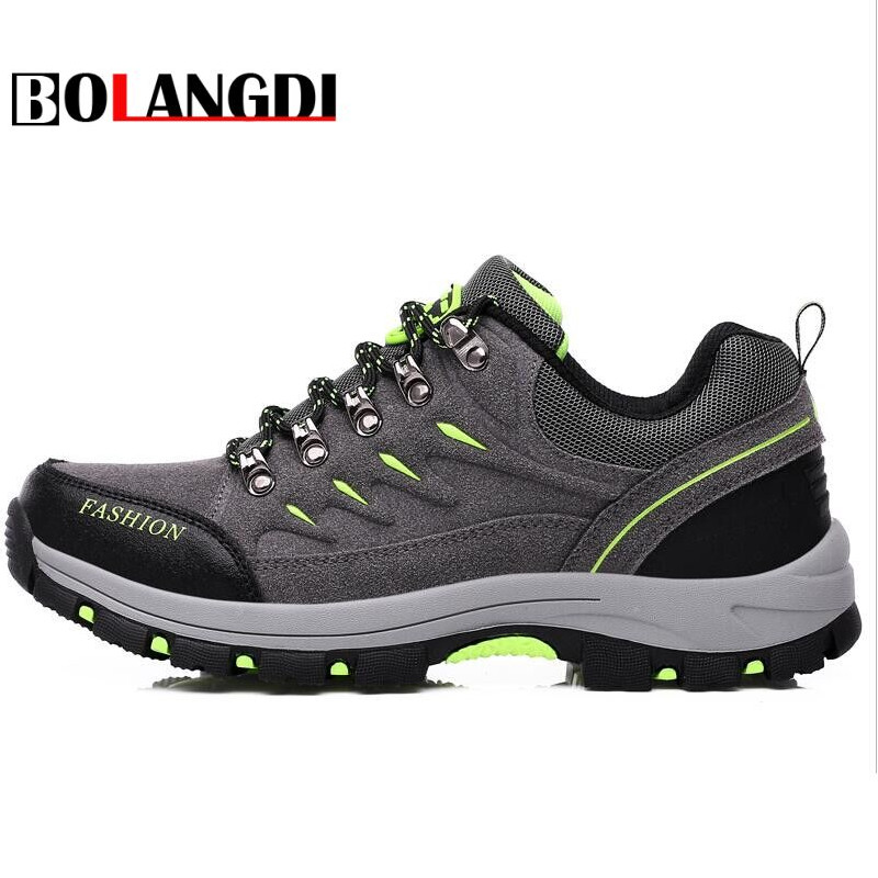 Bolangdi New Men Women Hiking Shoes Waterproof Camping Sports Shoes Trekking Climbing Mountain Non-Slip Men's Outdoor Sneakers 2017 new men hiking shoes non slip waterproof women trek climbing shoes outdoor breathable mountain trial lover trekking shoes