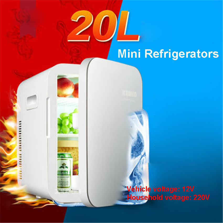 Cool and Heat Multifunction Mini Fridge Portable Car 12 V 20L Auto Travel Refrigerator Quality ABS Home Cooler Freezer Warmer mini red bull cooler and warmer