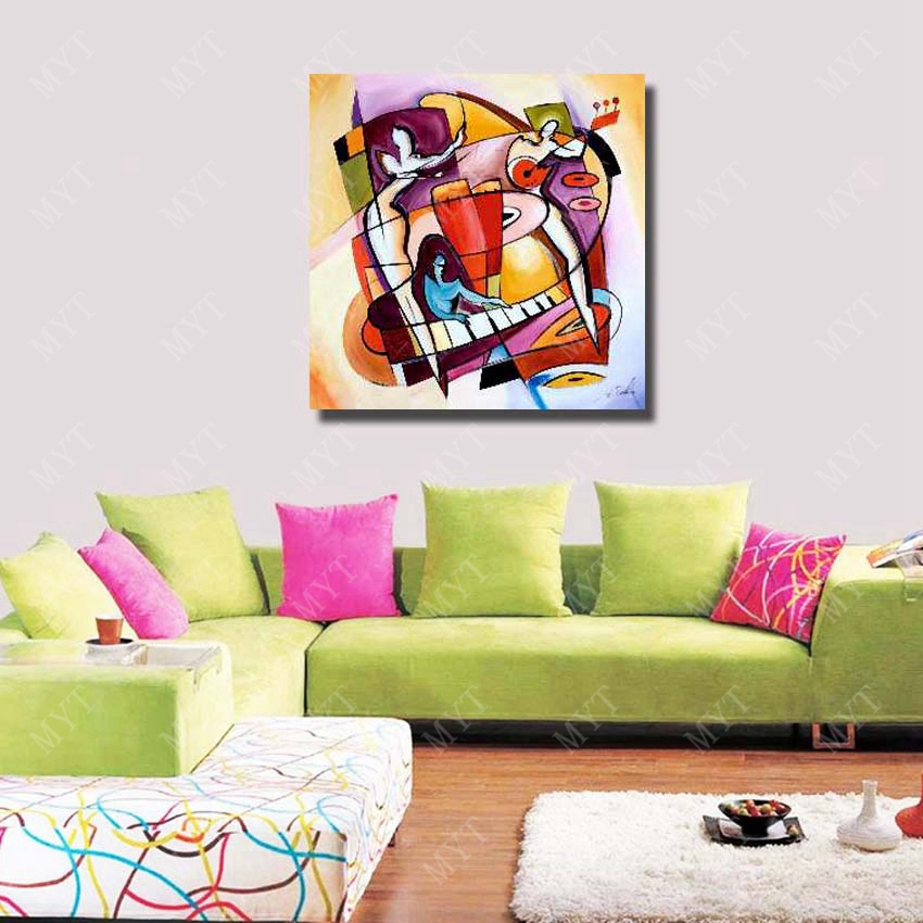 Canvas fabric painting designs abstract wall art painting modern ...
