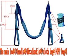 13 color Strength Decompression yoga Hammock Inversion Trapeze Anti-Gravity Aerial Traction Yoga Gym strap yoga Swing set