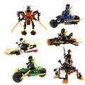 Clearance Sale 1Pcs Ninja Kids Building Blocks Cole Kai Jay Lloyd Nya Skylor Zane Pythor Chen Toy Figures Kids Gifts