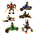 Venda de afastamento 1 Pcs Ninja Crianças Building Blocks Cole Jay Kai Lloyd Nya Skylor Zane Pythor Chen Figuras de Brinquedo Crianças presentes