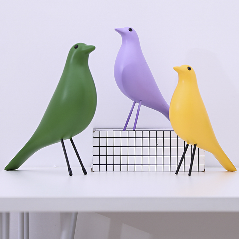 Modern Nordic House Bird Sculpture Home Decoration Accessories Office Resin Decor Wedding Gift in Statues Sculptures from Home Garden