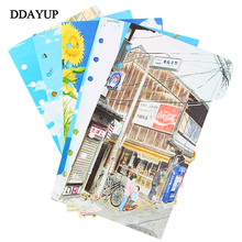 A5 A6 Vintage Loose-Leaf Notebook Paper Inside Pages Diary Planner Organizer Seperator Pages Office School Stationery