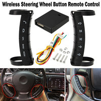 Convenient Wireless Steering Wheel Controller Button Remote Control for Stereo DVD GPS Navigation Auto Car Electronic Parts