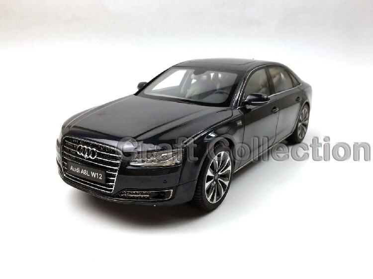 Blue 1:18 Diecast Car Model for Audi A8 A8L W12 2014 1 18 otto renault espace ph 1 2000 1 car model reynolds