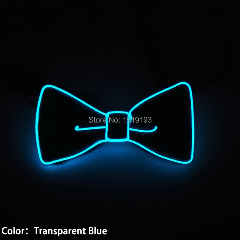 2017 NEW Design Fashion Flashing 10 colors EL Wire Sound active LED holiday lighting Bowtie For Wedding Party Decoration