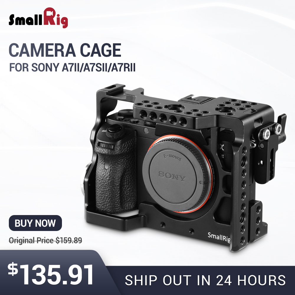 SmallRig A7m2 Camera Cage Rig for Sony a7II a7RII a7SII With ARRI rosette Mount and Cold