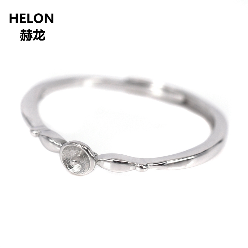 10pcs/lot Wholesale 925 Sterling Silver Women Engagement Wedding Ring 4-7mm Round Bead Pearl Semi Mount Ring DIY Stone10pcs/lot Wholesale 925 Sterling Silver Women Engagement Wedding Ring 4-7mm Round Bead Pearl Semi Mount Ring DIY Stone