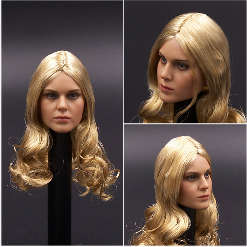 1/6 Headplay Female Head Model Golden Long Hair Female Head Sculpt 12 Action Figure Collection Doll Toys Gift 1 6 popular km 38 female head sculpt model with black hair for 12 female action figure body doll toys