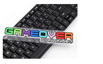 High quality For game over contunie car Reflective sticker and decals cool modified accessories