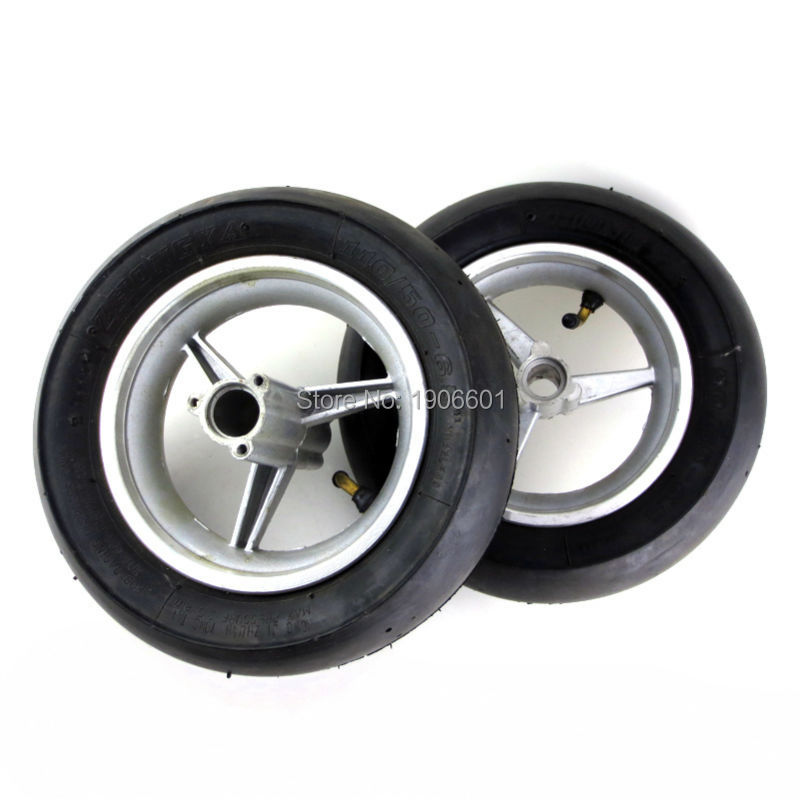 <font><b>110</b></font>/50-6.5&<font><b>90</b></font>/65-6.5 wheel hub and vacuum tyre for 2-stroke 47cc & 49cc Pocket Bike image