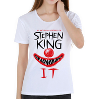 Latest Style Ladies Film Stephen King S It Pennywise Women T Shirt Tops Tees Fitness Hip