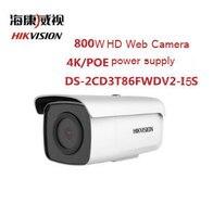 HIKVISION 8MP wifi ip camera DS 2CD3T86FWDV2 I5S IP Bullet Camera ip cam 8MP H.265 EZVIZ Hik Connect ONVIF PoE IR 50M Waterproof