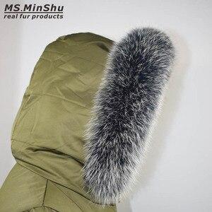 Image 3 - Fox Fur Collar Scarf Natural Fox Fur Collar for Hood 100% Real Fur Collar Scarf  Custom Made Winter Fur Scarf Ms.MinShu