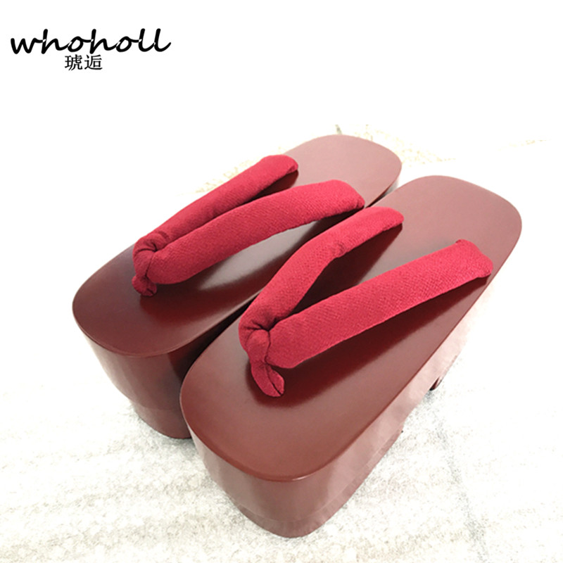 85acf1f4acd WHOHOLL Geta Summer Sandals Women Cos Geisha Clogs platform Shoe Flip flops  for Female Japanese Geta Anime Sandals and Slippers.-in Women s Sandals  from ...