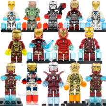 Single Sale Iron Man Avengers Super Hero Figure Marvel Ironman Iron-Man Building Block Sets Model Bricks Toys For Children