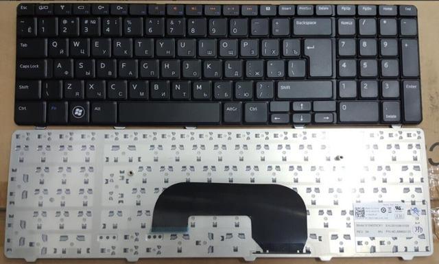Rusa del teclado para dell inspiron n7010 17r ru negro teclado del ordenador portátil