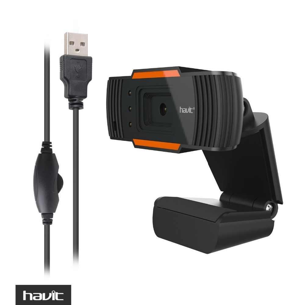 HAVIT USB Webcam Black Web Camera HD PC Camera for Computer Laptop Desktop  TV Webcam HV-N5086
