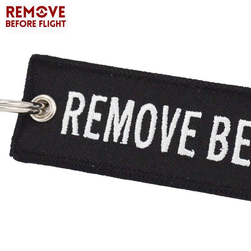 Удалить перед полетом 3 шт./лот черный брелок вышивка брелок для авиации мотоцикл безопасности тег Чемодан Label брелки