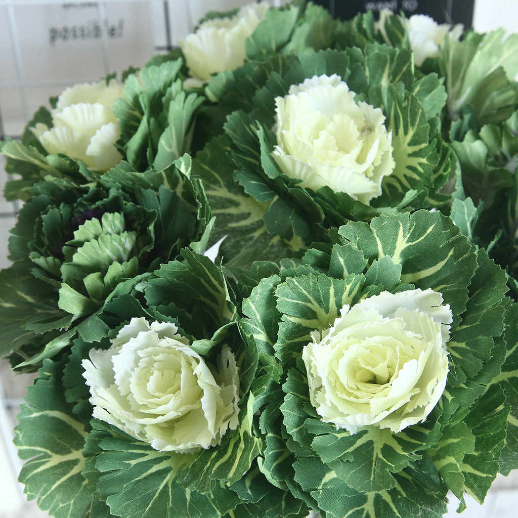 Plastik Hijau Rumput Tanaman Bunga Buatan Babysbreath Pernikahan Rumah Dekorasi Natal Pesta Kantor Bunga