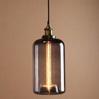 Vintage Industrial Metal Finish Glass Shade Loft Pendant Lamp Retro Ceiling Vintage Light Fitting 18cm Cannon
