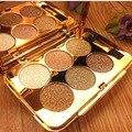 6 Colores Flash Diamante de Sombra de Ojos Paleta de Maquillaje Nude Impermeable Luminoso Brillo Cosméticos Herramientas de Maquillaje de Ojos sombra maquiagem