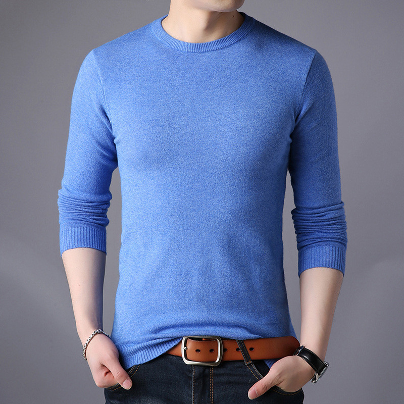 Free shipping New Fashion 2019 Spring Autumn men Wool Pullovers Man Sweaters Pullover-in Pullovers from Men's Clothing