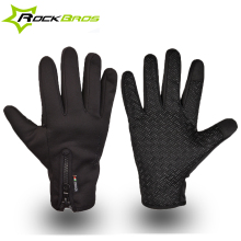RockBros Men Women Winter Windproof Warm Cycling Full Finger Gloves Outdoor Sports MTB Bike Bicycle Skiing