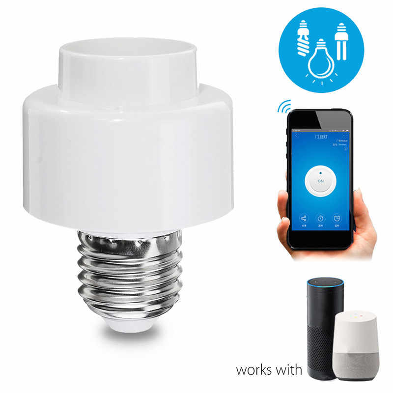 Light Base E26 E27 Wifi Bulb Lamp Socket Adapter Converter Lighting Holder For Alexa Echo for Google Home