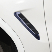 CITALL 2pcs Carbon Fiber Style chrome Side Door Air Vent Fender Cover Trims Stickers Accessories fit for BMW X3 G01 2018 2019