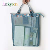 Lady Travel Beach Mesh Bags Female Tote Travel Bags High Capacity Beach Bags For Traveling