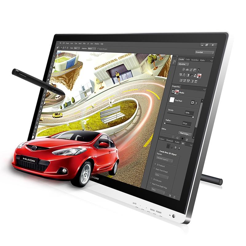 HUION GT-220 V2 21.5 8192 Niveaux tablette graphique Moniteur tablette numérique Moniteur IPS écran lcd Stylo écran d'affichage avec cadeau