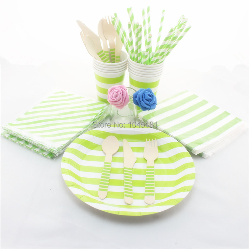 Disposable Party Tableware 300 Sets Party Paper Plates Cups Napkins Bags Drinking Straws Wooden Cutlery for Wedding Decor-in Disposable Party Tableware from ...  sc 1 st  AliExpress.com & Disposable Party Tableware 300 Sets Party Paper Plates Cups Napkins ...
