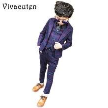 Formal de los muchachos trajes para bodas marca Inglaterra niños moda  fiesta trajes chicos caballeros chaqueta chaleco pantalone. 44ea7ccbd05