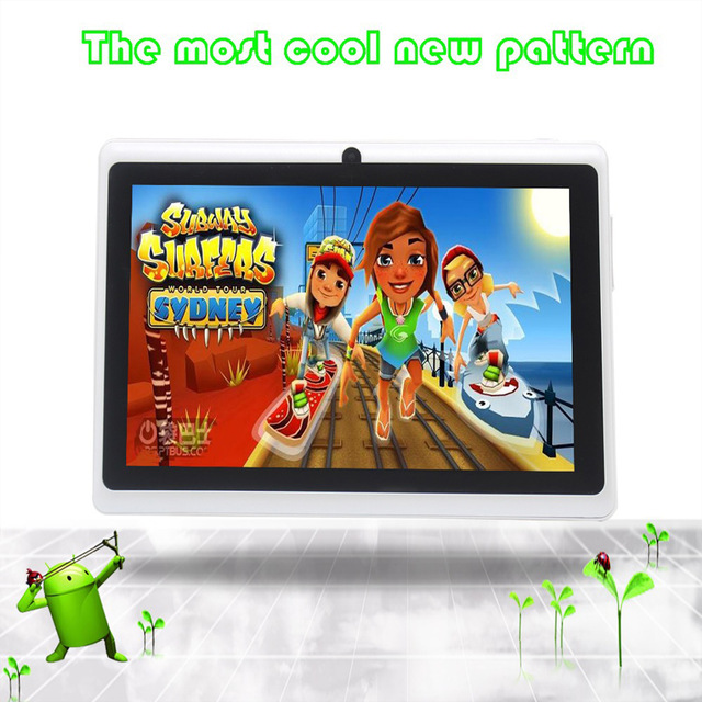 BDF 7 inch Android 4.4 Tablet Pc Google A33 Quad-Core Bluetooth WiFi Flash Tablet PC android tablet Network Communication 9 inch quad core tablet pc a33 atm7029 rom 8g 1024 600 pxl android 4 4 bluetooth fm hdmi android tablet 9 8 7