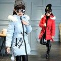 Brand New European Girl Jackets Girls Outerwear Coats Autumn Winter Cotton Plaid Fur Hoodies Jacket Teenage Girls Clothing