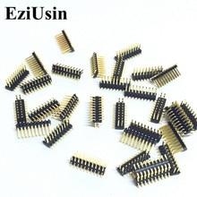 EziUsin 100pcs SMD 1.27mm המגרש כפולה בציפוי זהב פין 2x10P 1.27mm כפול שורת פיני SMT 2*10P מחבר Pinheader