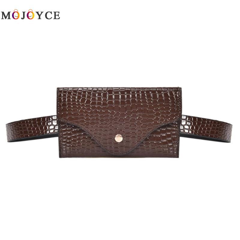 Women Waist Pack Classic Lady Stone Pattern PU Leather Fanny Pack Designer Fashion Female Mini Belt Bag