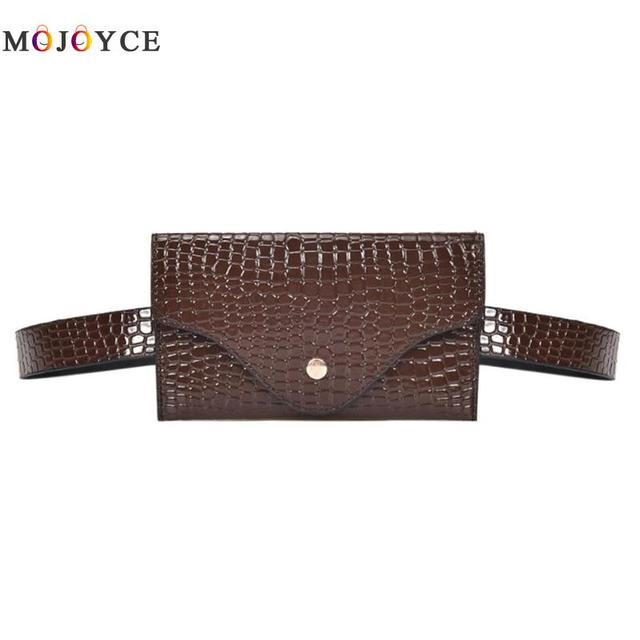 Women Waist Pack Classic Lady Stone Pattern PU Leather Fanny Pack Designer Fashion Female Mini Belt Bag