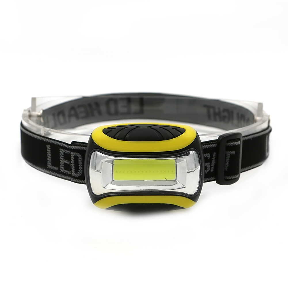 Mini Light weight COB LED Waterproof Head Light Lamp 3 Modes Powered By 3 AAA Headlight