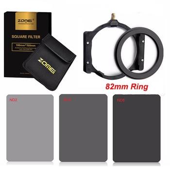 Zomei 82mm Adapter Ring+Multifunction Filter Holder+150*100mm Full Neutral Density ND2/4/8 Square Filter Kit for Cokin Z