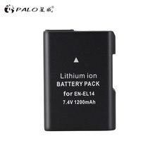 PALO – batterie d'appareil photo EL14 ENEL14, 1 pièce, pour Nikon D90 D300 D5300 D5200 D5100 D3300 D3200 D3100 COOLPIX P7100 P7200 P7700
