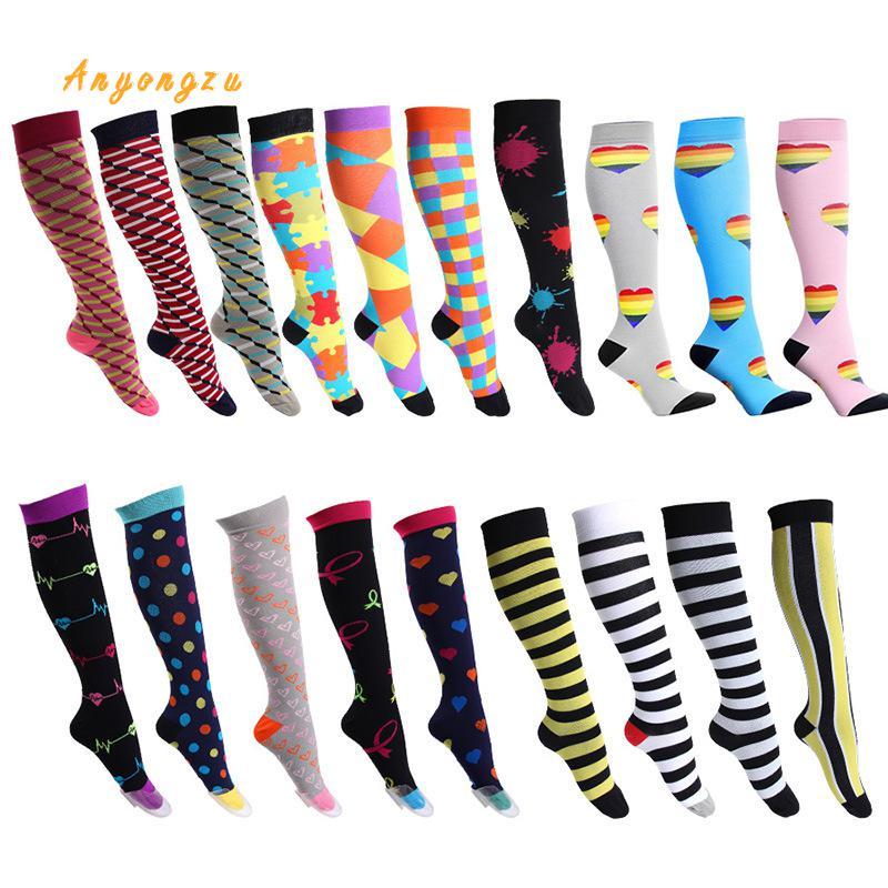2018 European And American Elastic Compress Stockings Nylon Nurse Professional Pressure Long Legs Women Stocking 5pair/lot-in Stockings from Underwear & Sleepwears on AliExpress