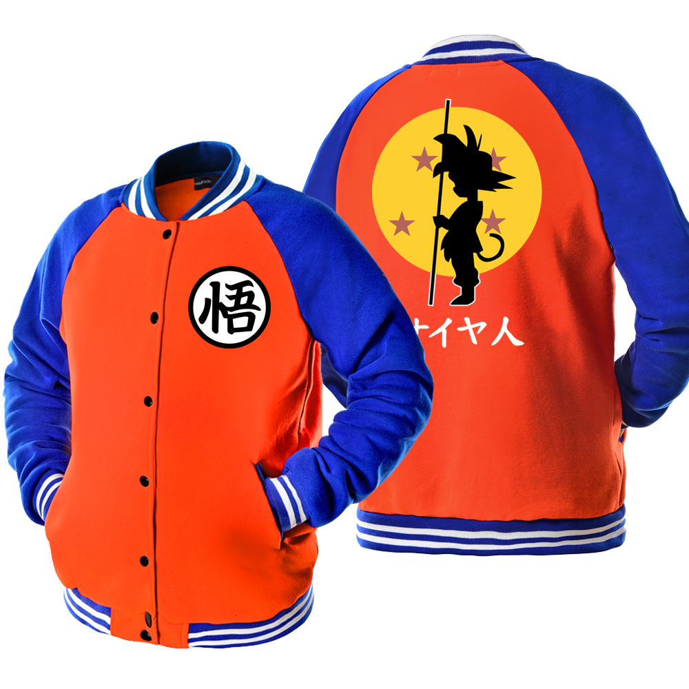 Bomber Jacket DRAGON BALL Anime Print Fashion Casual Mens Sportswear 2019 Spring Autumn Jackets Crossfit Streetwear Men's Jacket