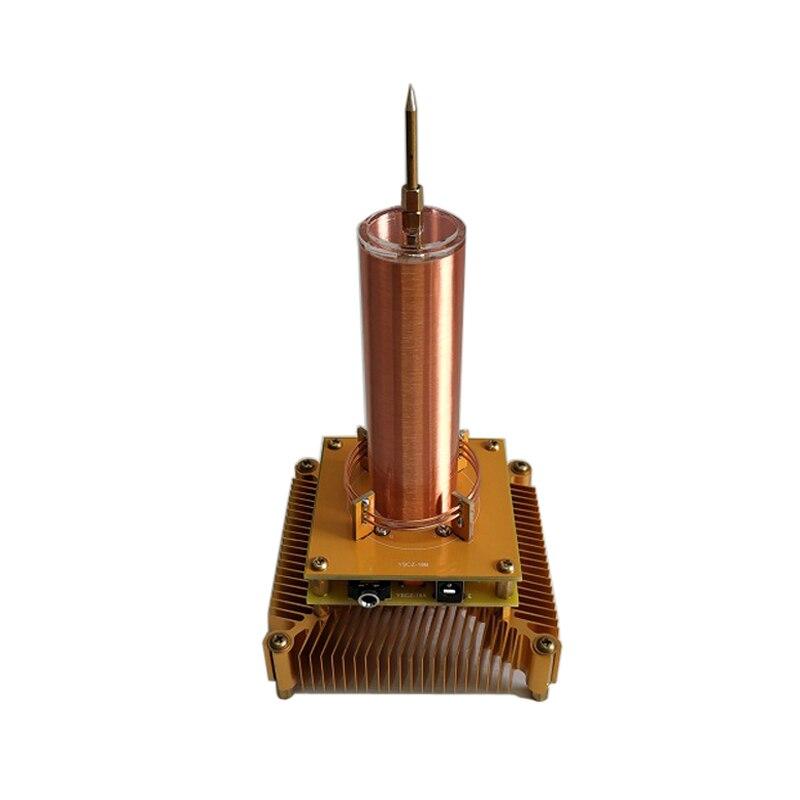 La bobine multifonctionnelle de Tesla de musique peut mettre la musique, la lumière séparée, le moulin à vent d'ion, la musique de haut-parleur d'arc de haut-parleur de Plasma de guirlande tesla
