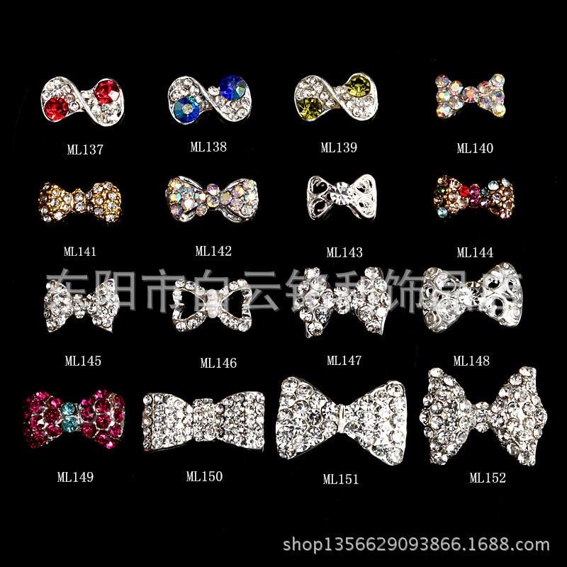 200pcs 12X13MM Japanese 3D Nail Art Jewelry | Dangle Gold Bow & Tear ...