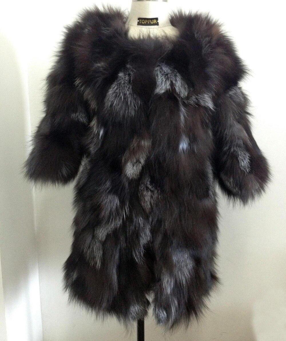 2019 Free Shipping  New Real Natural Fox Fur Coat Genuine Fur Jacket For Women Fashion Brand Fur KFP465